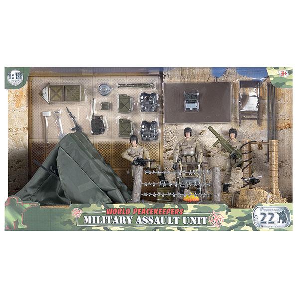 игровые фигурки World Peacekeepers MC77083 Игровой набор Лагерь 2 фигурки, 1:18