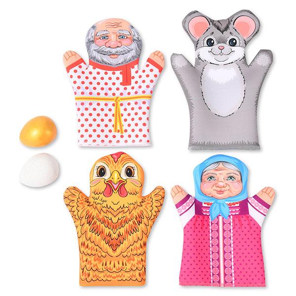 """Десятое королевство TD03643 Домашний кукольный театр """"Курочка Ряба"""" (4 куклы-перчатки)"""