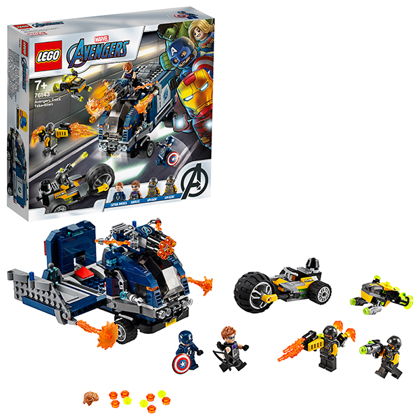 цена на LEGO Super Heroes 76143 Конструктор ЛЕГО Супер Герои Мстители: Нападение на грузовик
