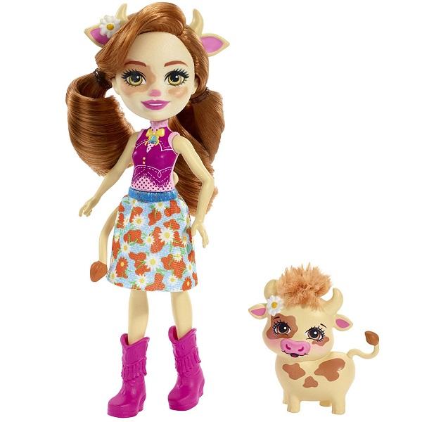 Mattel Enchantimals FXM77 Кукла с питомцем Коровка Кейли кукла enchantimals с любимой зверюшкой dvh87 fnh22 кейли коровка