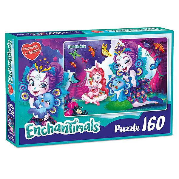 Enchantimals AST188872 Пазл Пэттер и Бри 160 элементов mattel набор с куклой enchantimals сюжетные наборы бри банни и твист