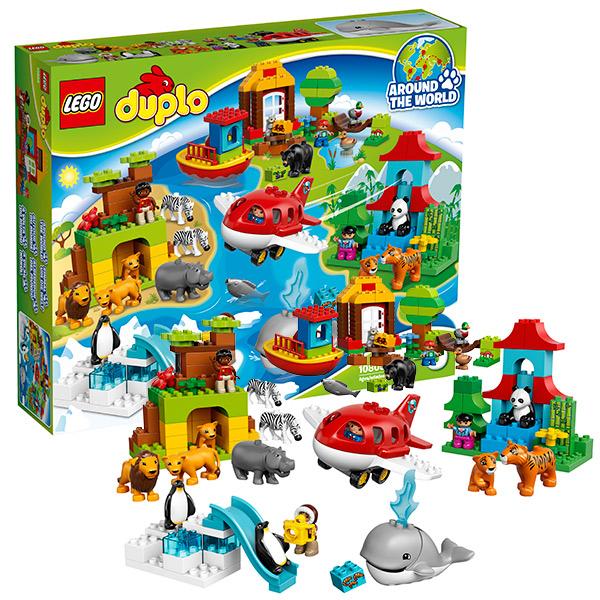 Lego Duplo 10805 Лего Дупло Вокруг света: В мире животных lego duplo 10508 лего дупло большой поезд
