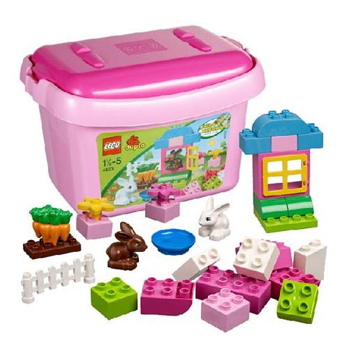 Lego Duplo 4623 Розовая коробка с кубиками ДУПЛО