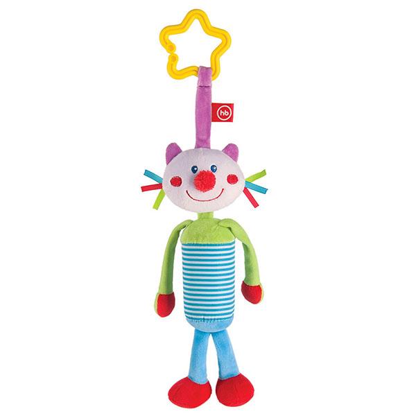 Happy Baby 330350 Подвесная игрушка-колокольчик Кот