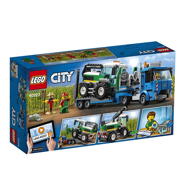 LEGO City 60223 Конструктор Лего Город Транспорт: Транспортировщик для комбайнов