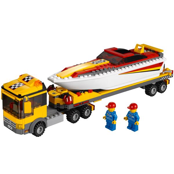 LEGO City 4643 Конструктор ЛЕГО Город Перевозчик скоростной моторной лодки