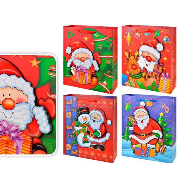 Пакет подарочный новогодний бумажный TZ12950 32*26*10 см (в ассортименте) академия групп пакет бумажный подарочный 33 43 10 см