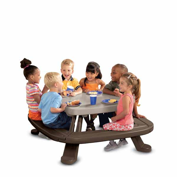 Little Tikes 442N Литл Тайкс Большой круговой стол со скамейками