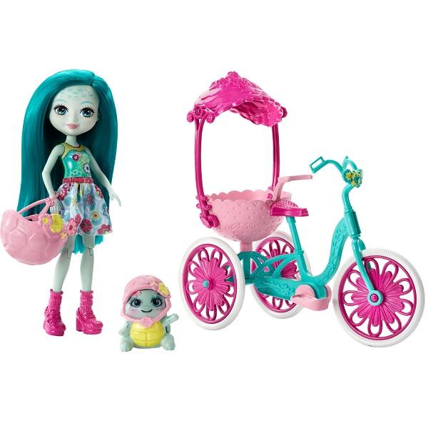 Mattel Enchantimals FCC65 Игровой набор Прогулка на велосипеде enchantimals пазл 64 магнитик фелисити лис и флик 03554