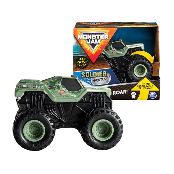 Monster Jam 6044990-SOL Монстр Джем машинка Звуки мотора Soldier Fortune