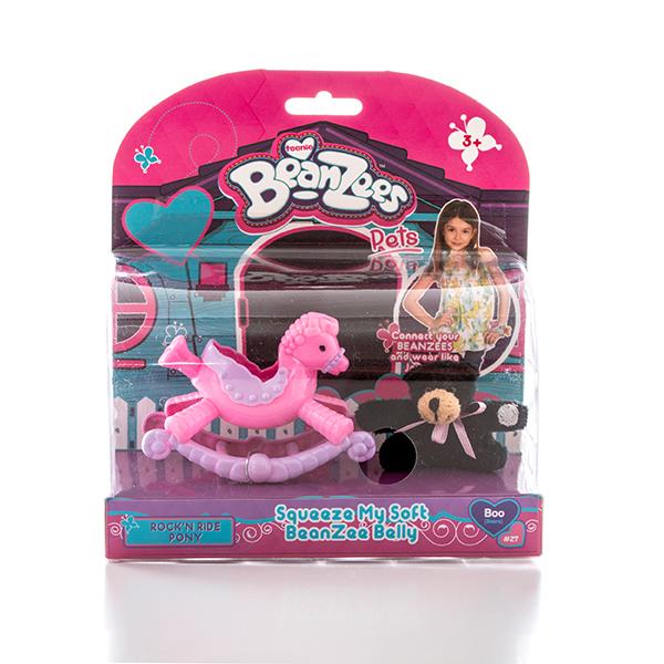 """Beanzees B32031 Бинзис Игровой набор плюшевый """"Медвежонок на пони-качалке"""""""