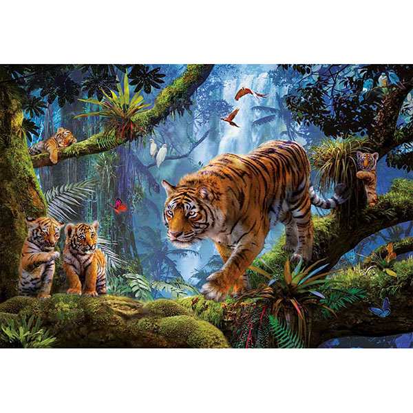 "Educa 17662 Пазл 1000 деталей ""Тигры на дереве"""