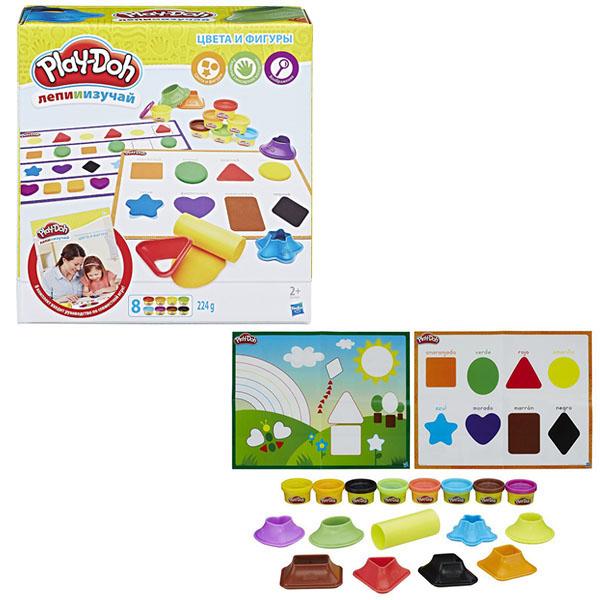 Hasbro Play-Doh B3404 Игровой набор Цвета и формы hasbro play doh игровой набор из 8 баночек с 2 лет