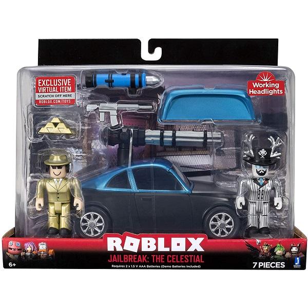 Roblox ROB0341 Фигурка героя с транспортным средством Jailbreak: The Celestial с аксессуарами