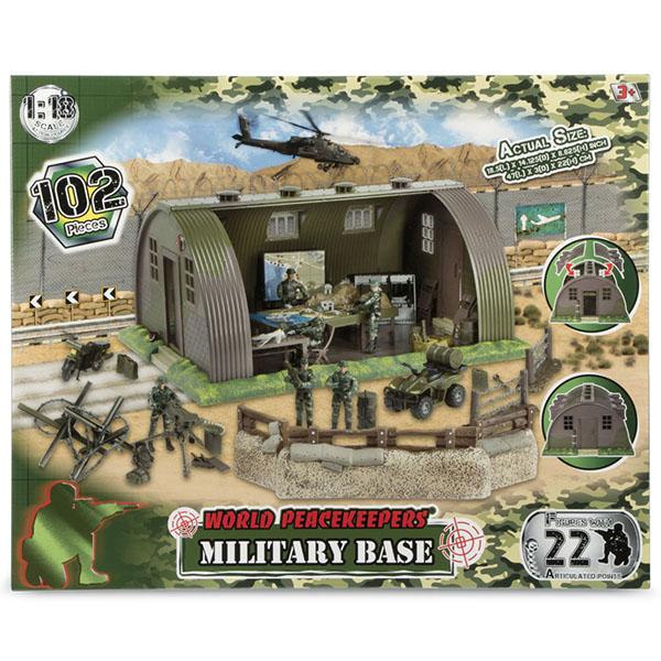 World Peacekeepers MC77088 Игровой набор Военная база 6 фигурок, 1:18 игровые фигурки 1 toy набор фигурок крысы 6 шт
