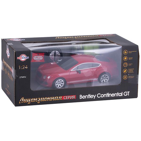 Wincars DS-2013 Bentley Continental GT (лицензия), Р/У, масштаб 1:24, ЗУ в комплекте