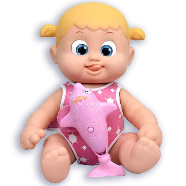 Bouncin' Babies 801011g Кукла Бони плавающая с дельфином, 35 см