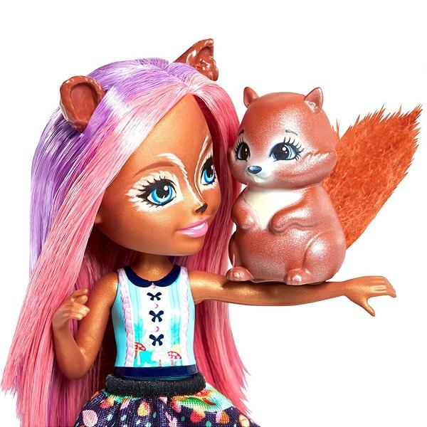 Mattel Enchantimals FMT61 Кукла с питомцем - Санча Белка