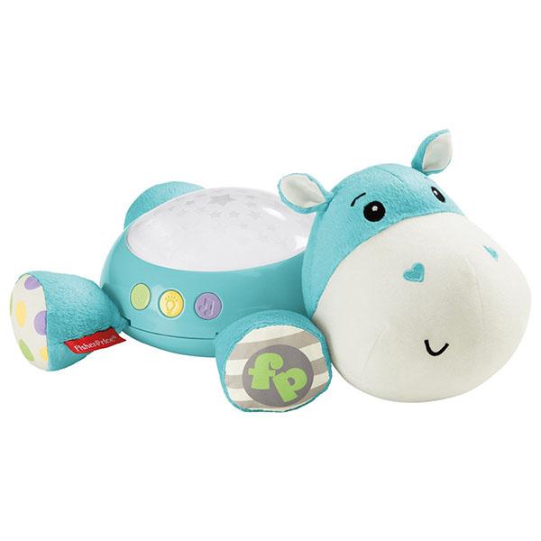 Fisher-Price Плюшевая игрушка-проектор Бегемотик