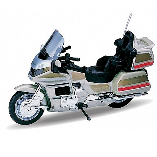 Welly 12148P Велли Модель мотоцикла 1:18 HONDA Gold Wing мотоцикл welly honda gold wing 1 18 12148p