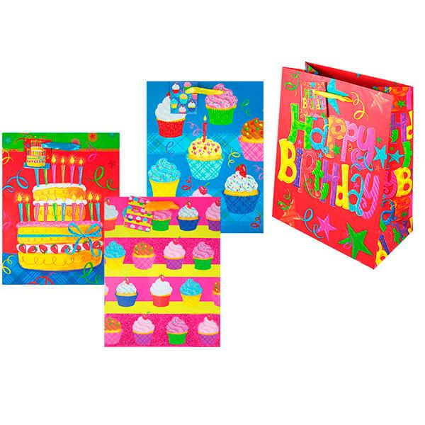 Пакет подарочный бумажный День рождения TZ9474 (23*18*10 см) пакет подарочный бумажный s2656 с днём рождения 45х31х14 см 3 расцветки в ассортименте