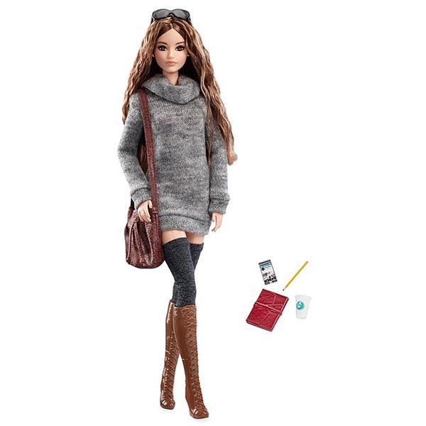 Mattel Barbie DYX63 Коллекционные куклы Городской блеск кукла barbie городской блеск длинные светлые волосы черная куртка