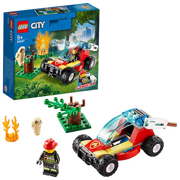 LEGO City 60247 Конструктор ЛЕГО Город Лесные пожарные детское лего sluban airbus lego b0366
