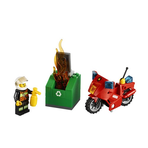 LEGO City 60000 Конструктор ЛЕГО Город Пожарный на мотоцикле