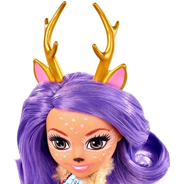 Mattel Enchantimals FXM75 Кукла с питомцем Данесса Оления