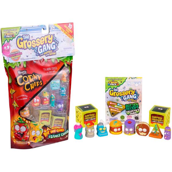 Grossery Gang 69077 10 фигурок, упаковка в виде пакета чипсов фигурки grossery gang упаковка в виде шоколадного батончика