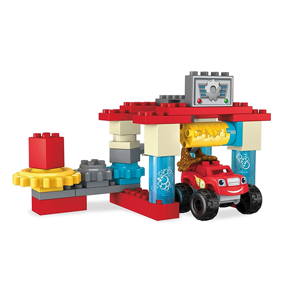 Mattel Mega Bloks DXF24 Мега Блокс Вспыш: автомобильная мойка mattel mega bloks fvj48 мега блокс тележка сортер для сбора деталей розовая