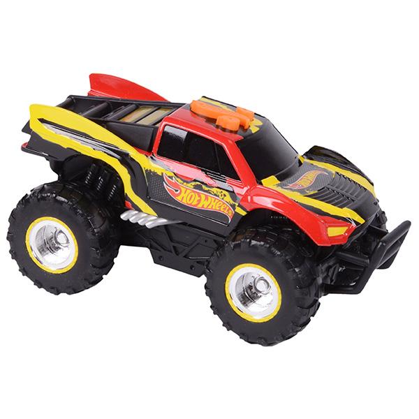 Hot Wheels HW90553 Машинка Хот вилс на батарейках свет+звук электромеханическая, красно-желтая 14 см
