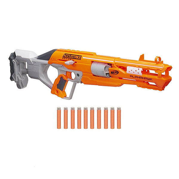 Hasbro Nerf B7784 Нерф Бластер Аккустрайк Альфахок игрушечное оружие nerf hasbro бластер элит разрушитель