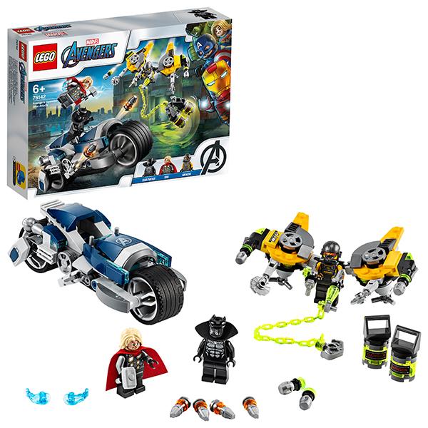 LEGO Super Heroes 76142 Конструктор ЛЕГО Супер Герои Мстители Атака на спортбайке игрушка супер герои lego игрушка супер герои