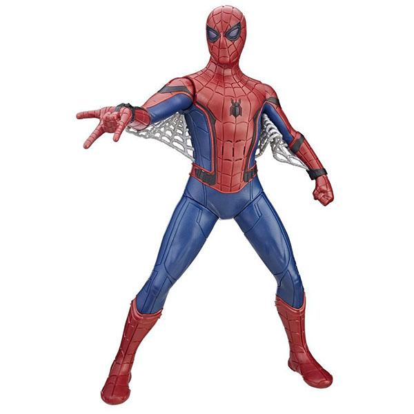 Hasbro Spider-Man B9691 Фигурка Человека-паука со световыми и звуковыми эффектами машинки hti паровозик roadsterz синий с вагоном звуковыми и световыми эффектами