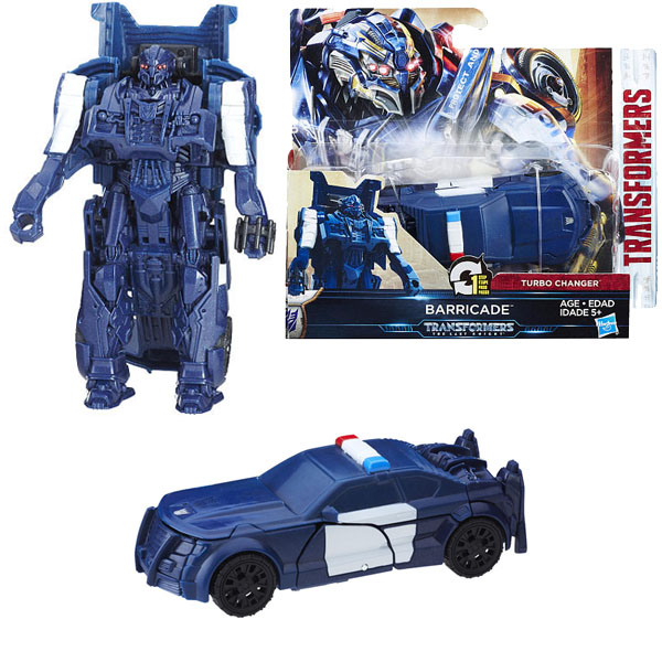Hasbro Transformers C0884/C1313 Трансформеры 5: Уан-степ Баррикейд hasbro transformers c0889 c1328 трансформеры 5 последний рыцарь легион гримлок