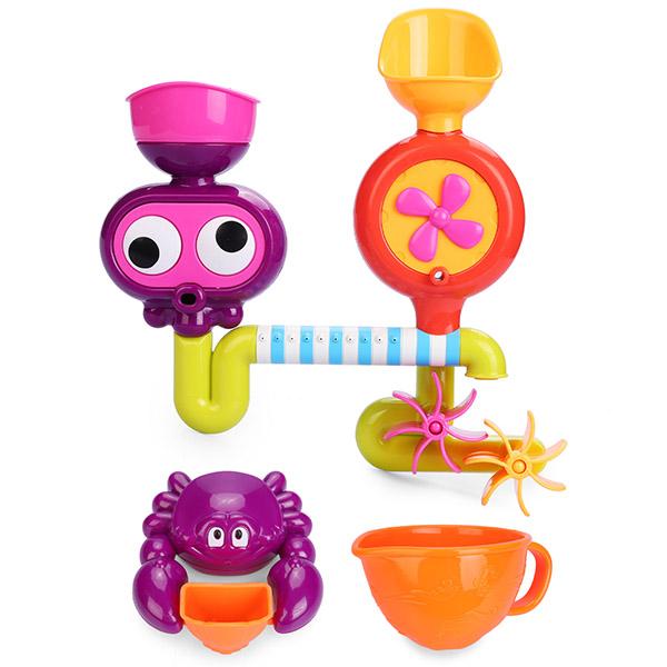 """Happy Baby 32005 Набор игрушек для ванной """"EUREKA"""" детский ковш для воды happy baby yellow"""