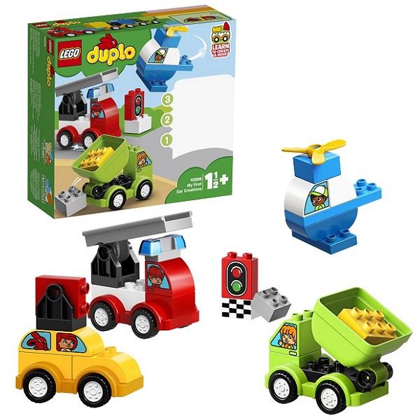 LEGO DUPLO 10886 Конструктор ЛЕГО ДУПЛО Мои первые машинки lego duplo 10812 конструктор лего дупло грузовик и гусеничный экскаватор