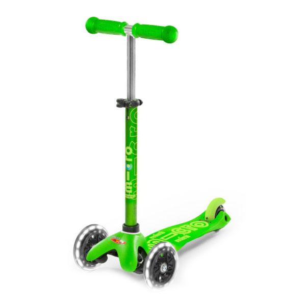Micro MMD051 Самокат Mini Micro Deluxe Зеленый LED (со светящимися колесами)