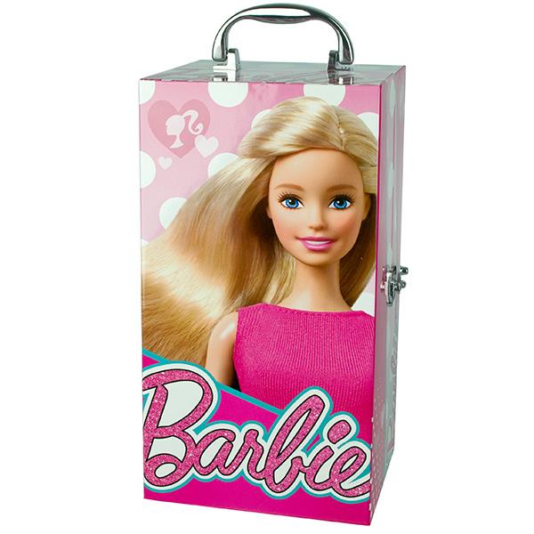 Markwins 9601051 Barbie Набор детской декоративной косметики в чемодане с подсветкой