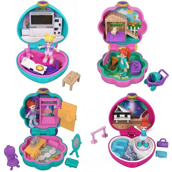 Mattel Polly Pocket FRY29 Компактные игровые наборы (в ассортименте) mattel polly pocket ftp67 маленькие куклы в ассортименте