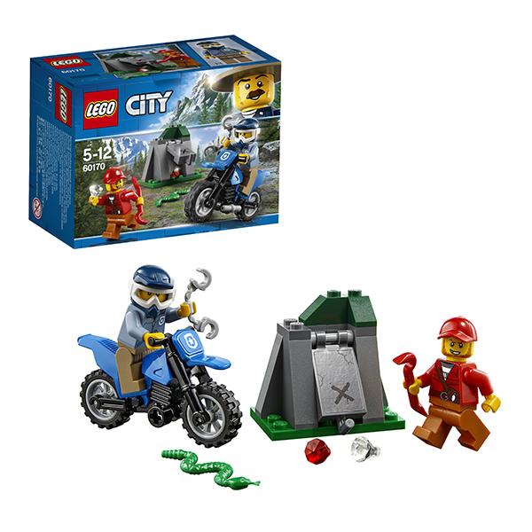 Lego City 60170 Конструктор Лего Город Погоня на внедорожниках конструкторы lego lego игрушка город набор для начинающих остров тюрьма модель 60127 city