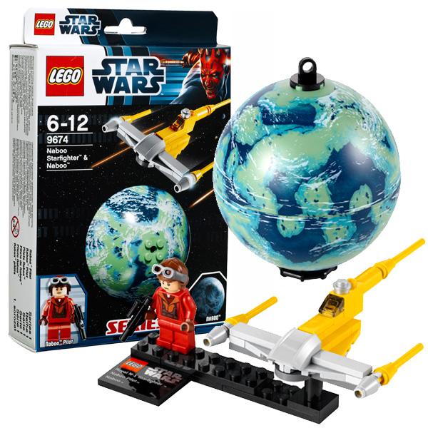 Lego Star Wars 9674 Конструктор Лего Звездные войны Истребитель Набу и планета Набу