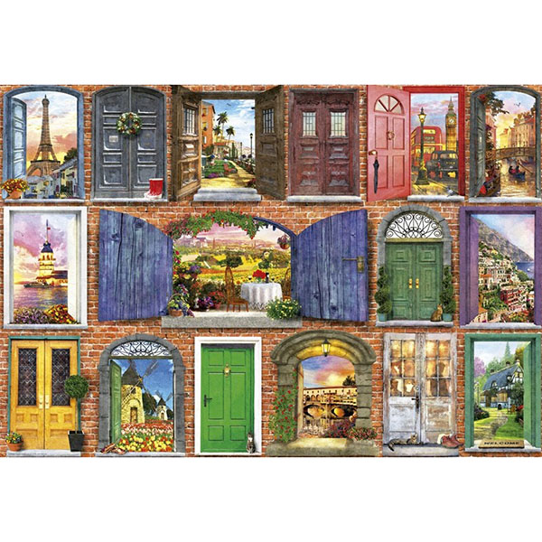 цена на Educa 17118P Пазл 1500 деталей Двери Европы