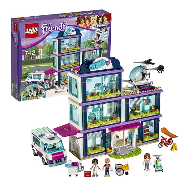 Lego Friends 41318 Лего Подружки Клиника Хартлейк-Сити lego friends выставка щенков игровая площадка