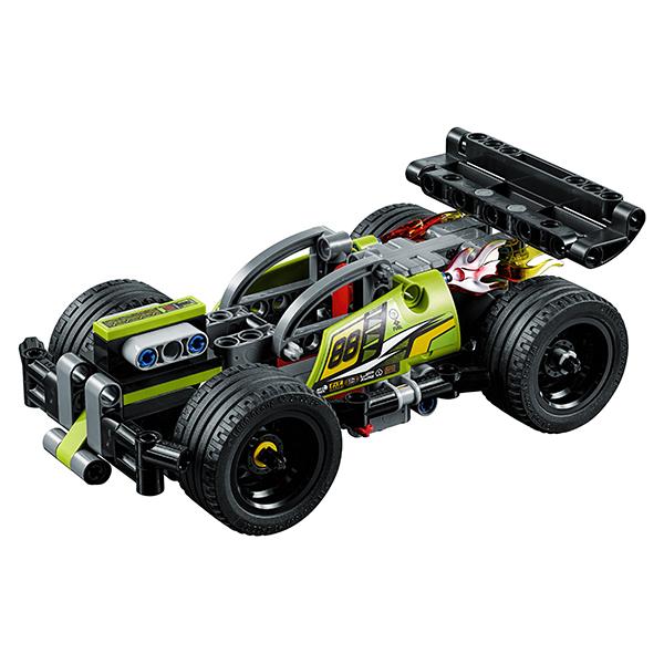 LEGO Technic 42072 Конструктор ЛЕГО Техник Зеленый гоночный автомобиль