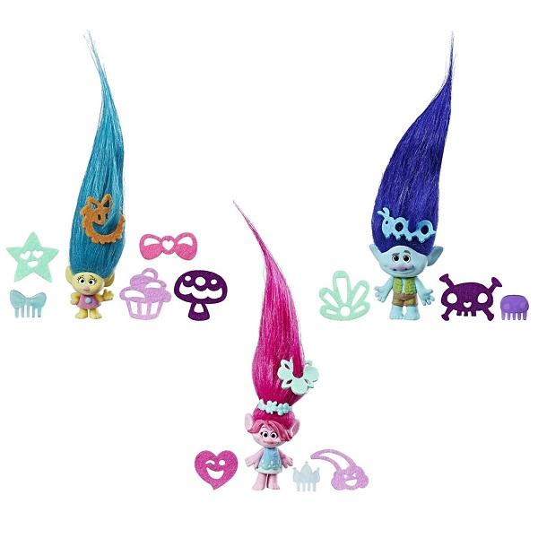 Hasbro Trolls C1300 Тролли с супер длинными поднимающимися волосами (в ассортименте) hasbro игровой набор trolls тролли с супер длинными волосами голубой тролль