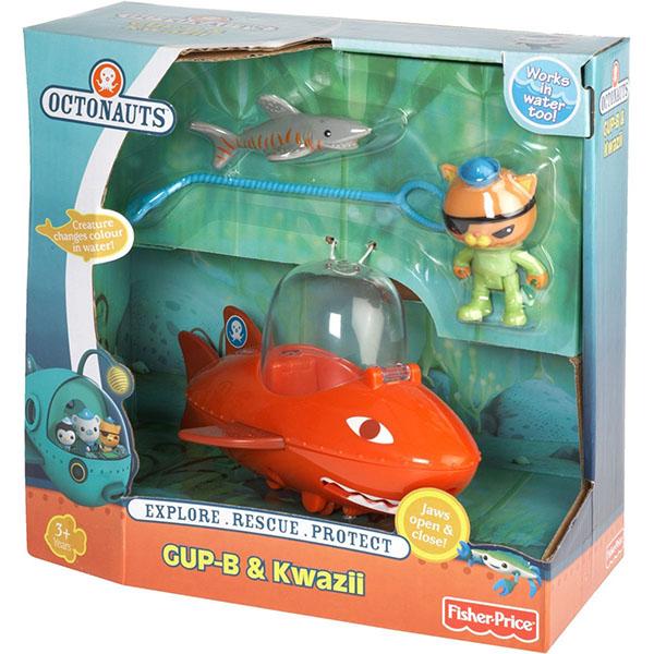Mattel Octonauts T7018 Октонавты Квази и оранжевая подводная лодка