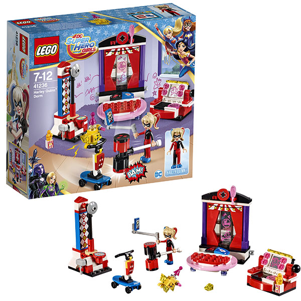 Lego Super Hero Girls 41236 Конструктор Лего Супергёрлз Дом Харли Квинн lego super hero girls 41230 лего супергёрлз бэтгёрл погоня на реактивном самолёте