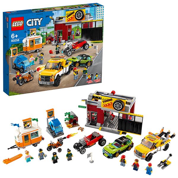 цена на LEGO City 60258 Конструктор ЛЕГО Город Turbo Wheels Тюнинг-мастерская